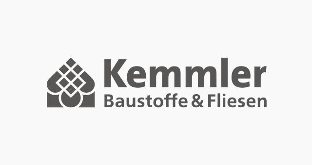 ALEKS UND SHANTU Kundenlogo kemmler-baustoffe grau