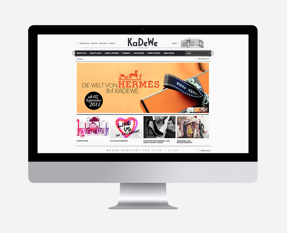Above the Fold KaDeWe Website