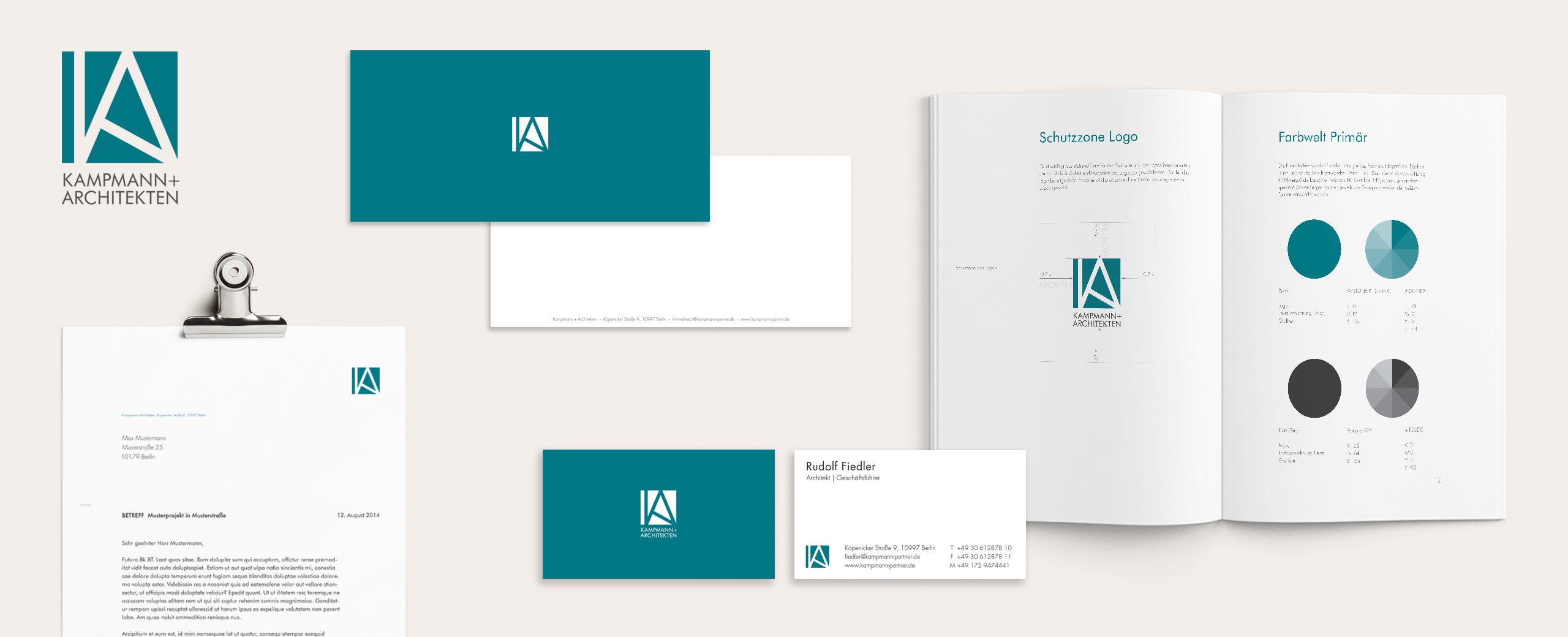 Kampmann + Architekten Print Webdesign Übersicht