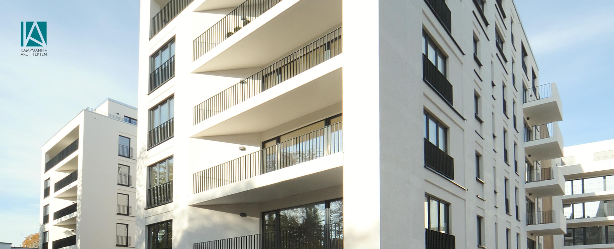 Kampmann Teaser Gebäude Haus Balkon Architekten