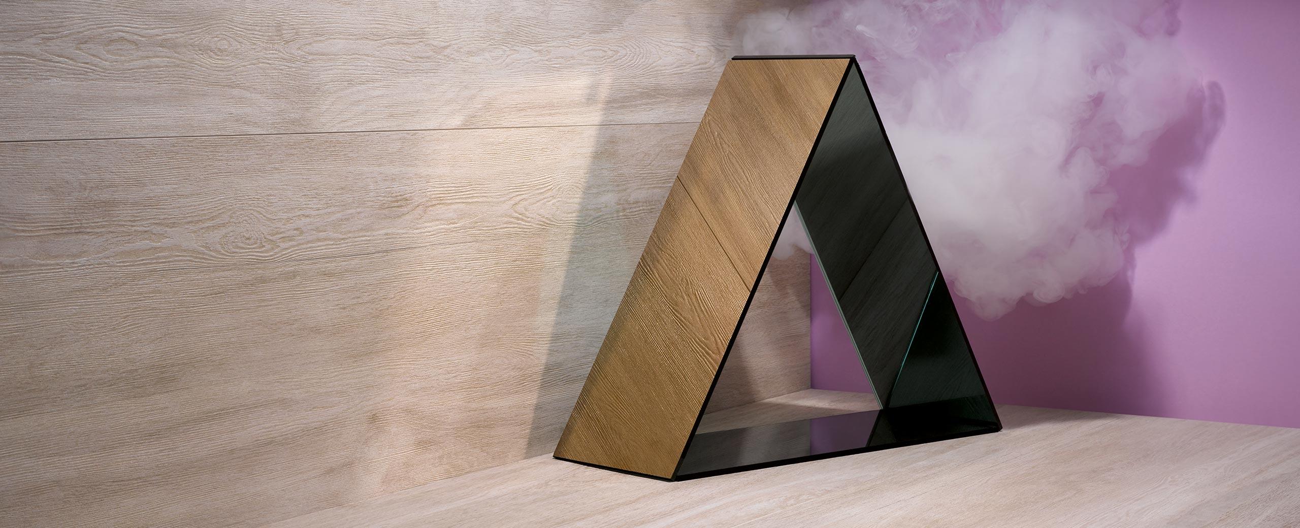Kemmler Webdesign Pyramide Wolke Holzwand