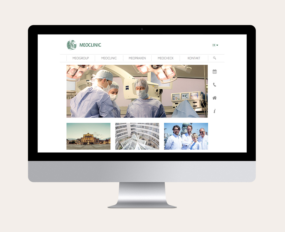 Meoclinic Above the Fold Website
