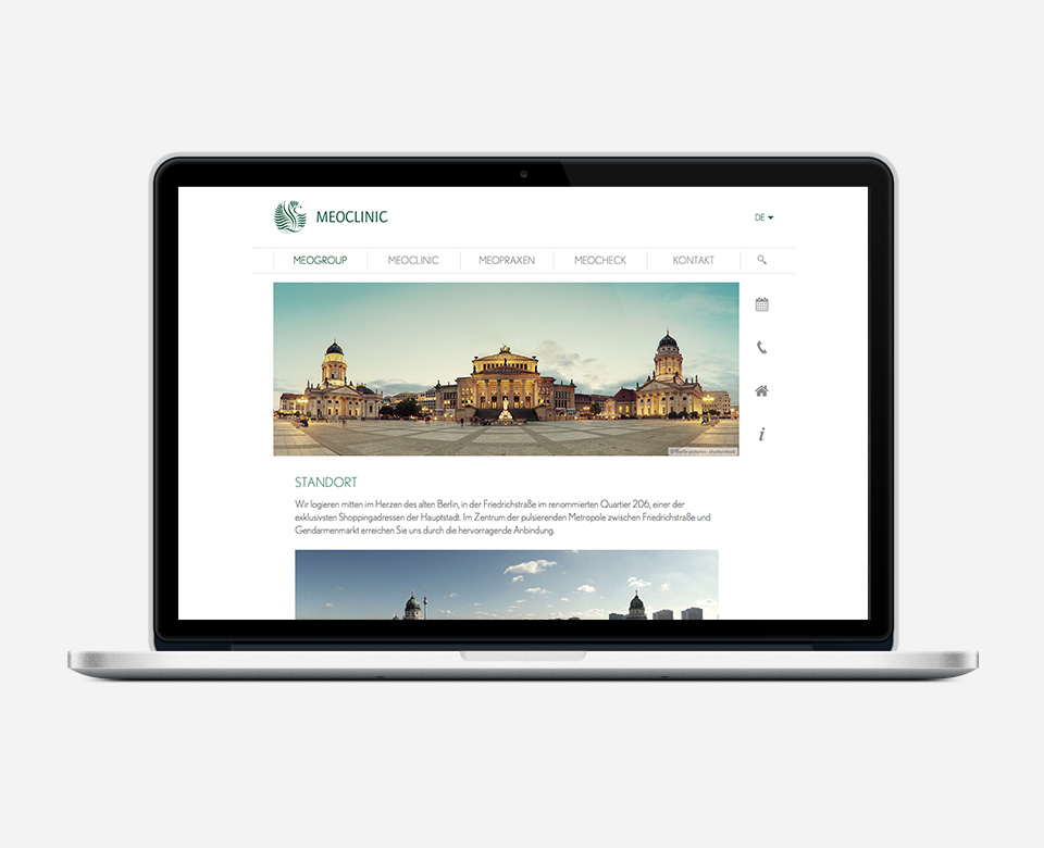 Meoclinic Mac Standort Website