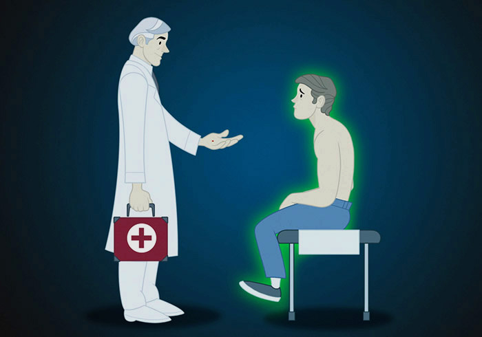 Arzt mit Patient