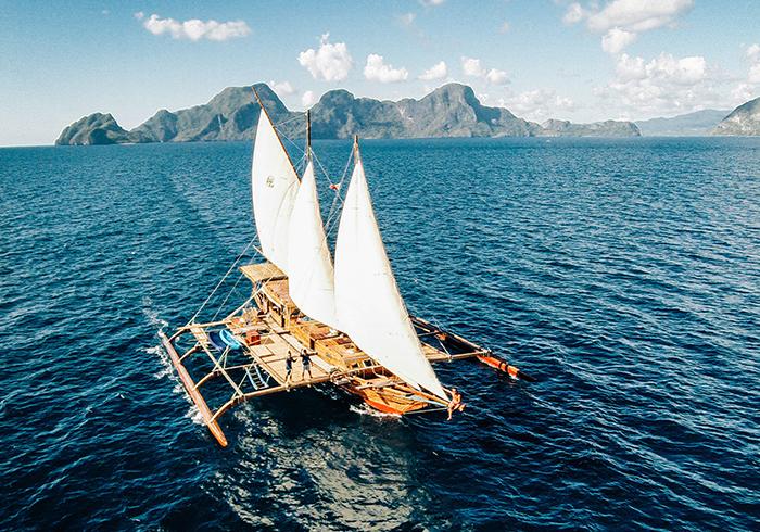 Tao Philippines Segelboot auf dem Meer