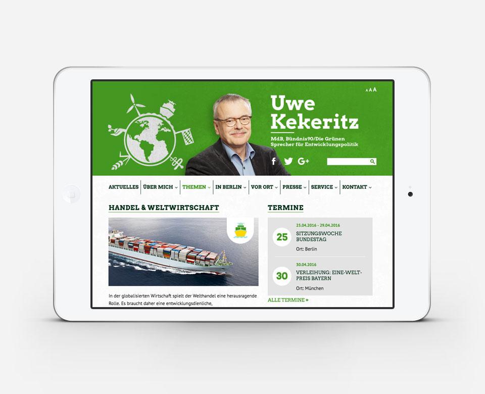 Uwe Kekeritz Portfolio iPad Ansicht