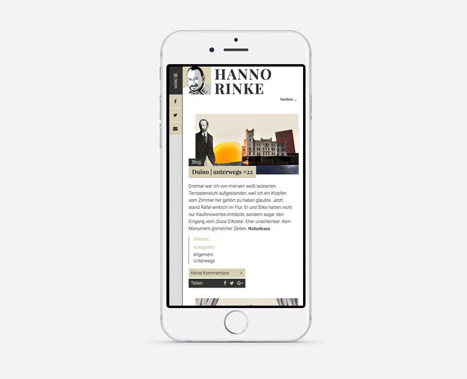 Hanno Rinke Blog Duino / unterwegs #22 Mobile