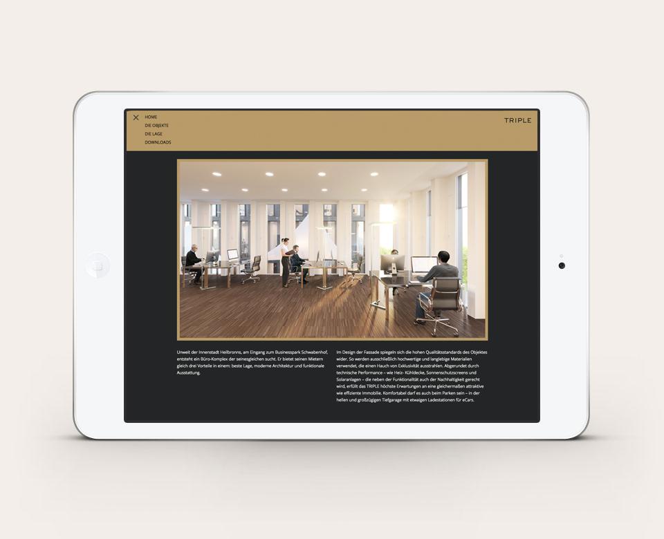 Portfolio iPad Anischt Trible