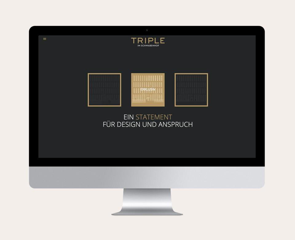 Triple im Schwabenhof Mac Ein Statement für Design und Anspruch