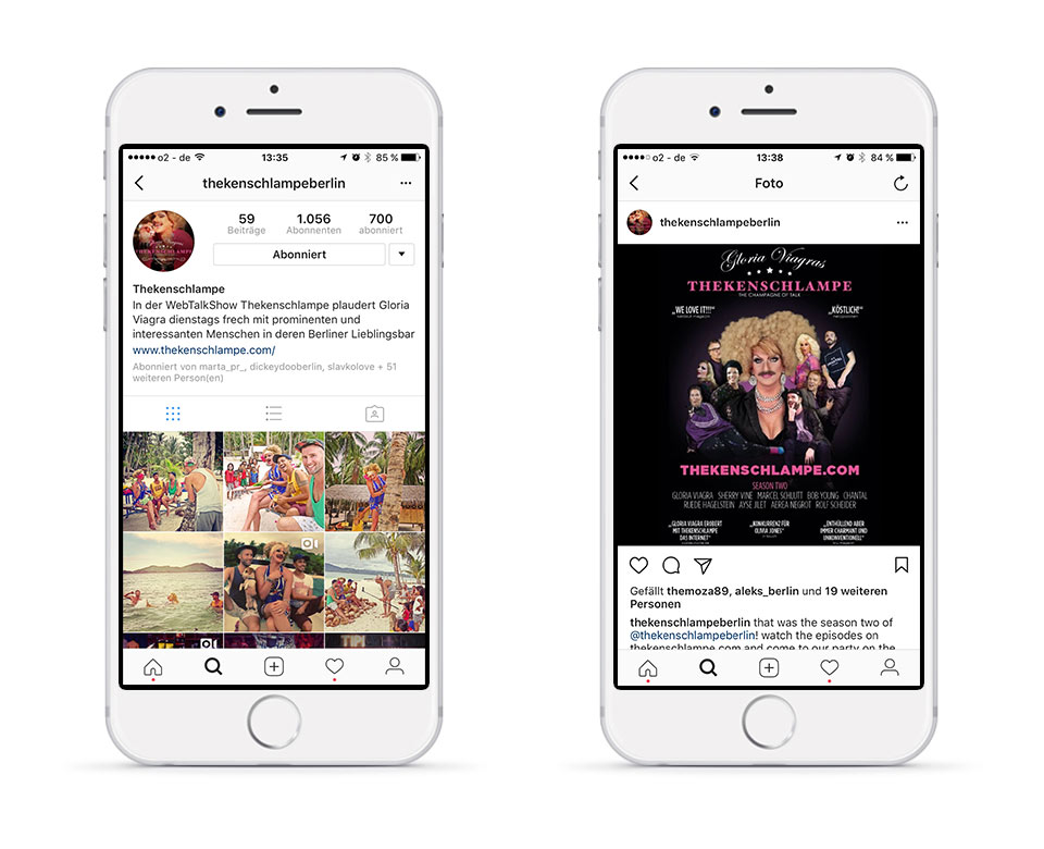 Instagram Thekenschlampe Berlin Feed/Profil