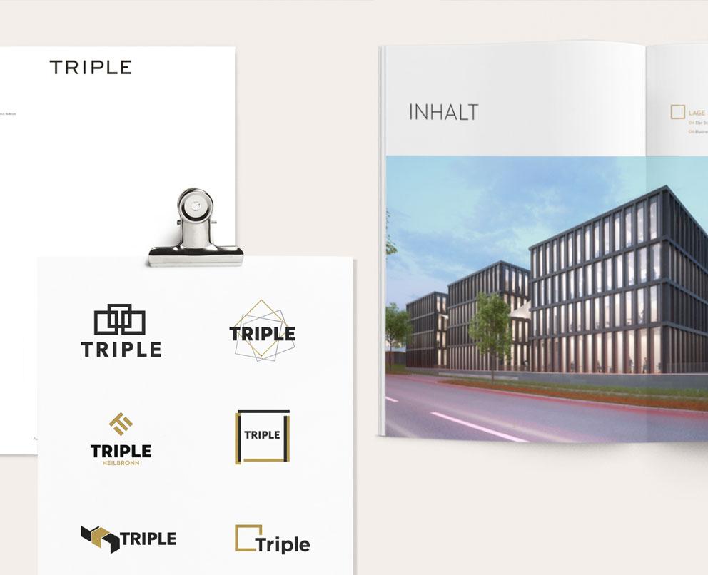 Triple Inhalt Logos Broschüre