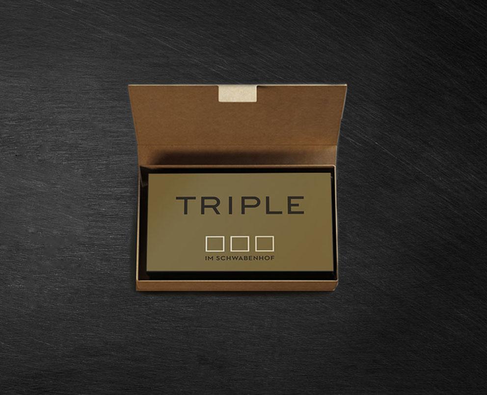 Triple im Schwabenhof Kiste