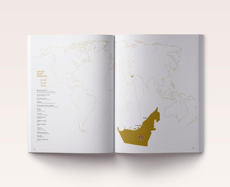 Dubai City Buch Karte
