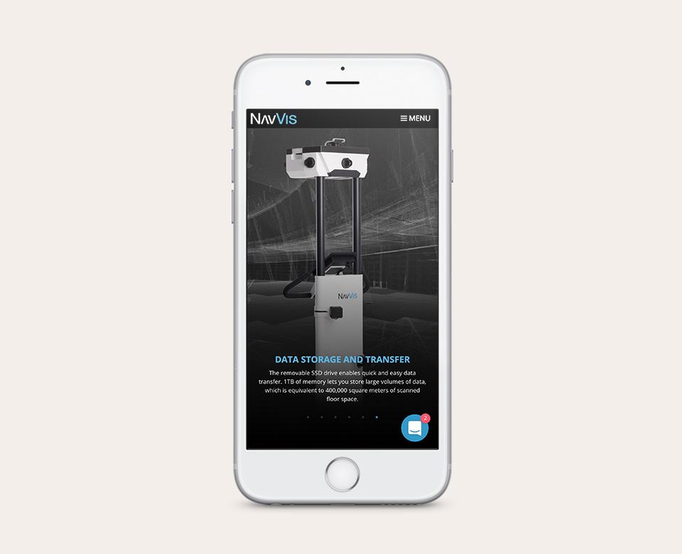 abbildung navvis 3D Trolley auf smartphone
