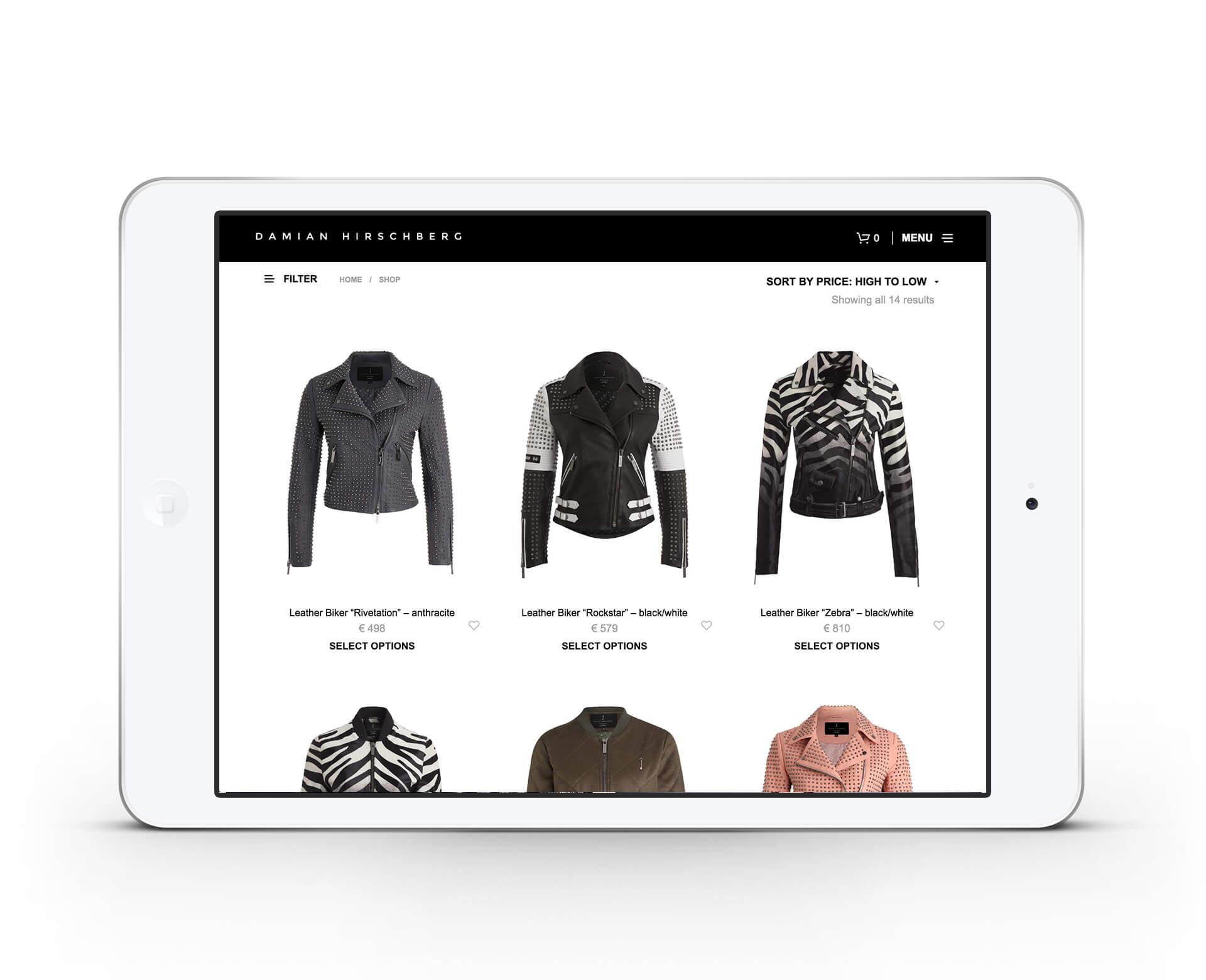 Damian Hirschberg Shopansicht iPad