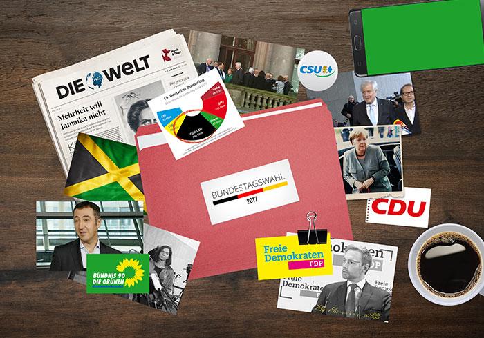 Bildcollagen zu titel thesen temperamente Beitragsbild zu den Koalitionsverhandlungen