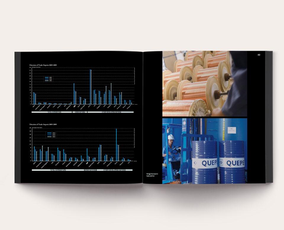 foto offenes Buch - Geschäftsbericht Ras Al Khaimah Diagramme