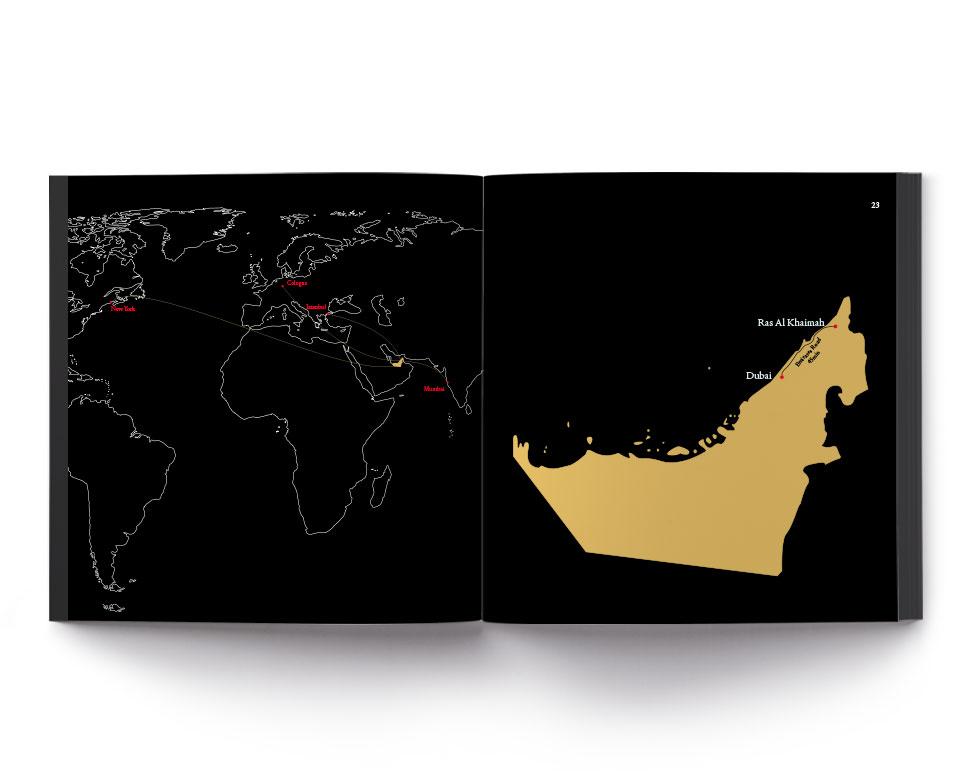 Buch Karte Dubai Ras Al Khaimah