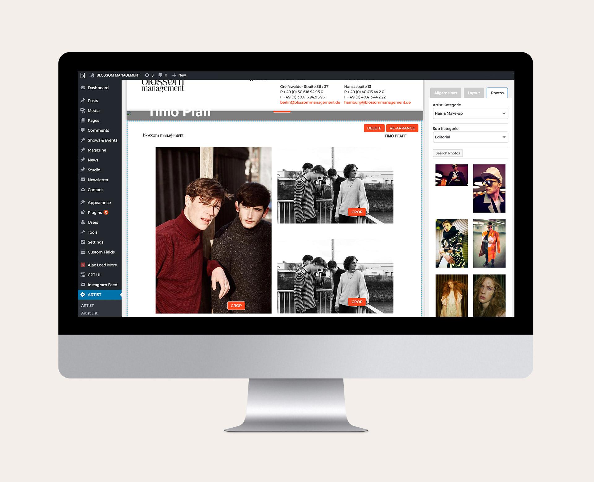 Ansicht in Aktion des PDF-Generator im Wordpress Backend nach dem Website-Relaunch