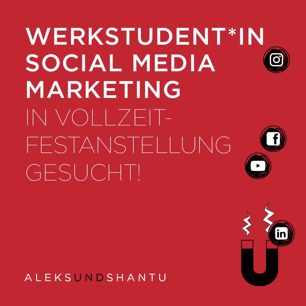 Stellenzeige Aleksundshantu - Werkstudent*in Social Media Marketin Gesucht