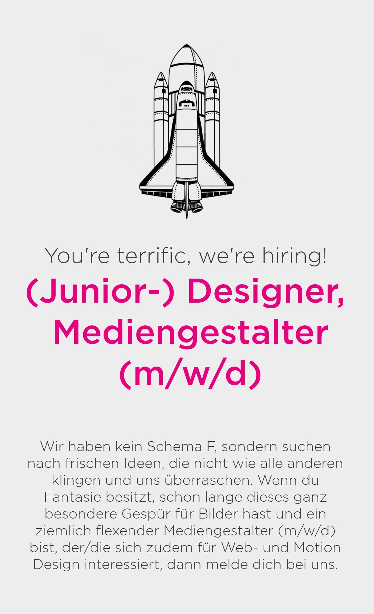 (Junior-) Designer, Mediengestalter (m/w/d)