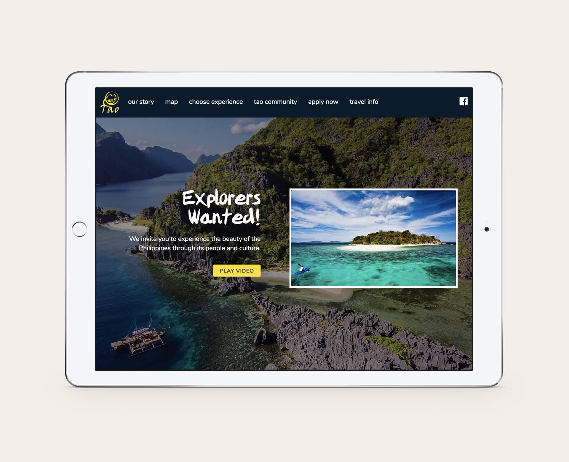 Webseite_auf_Tablet
