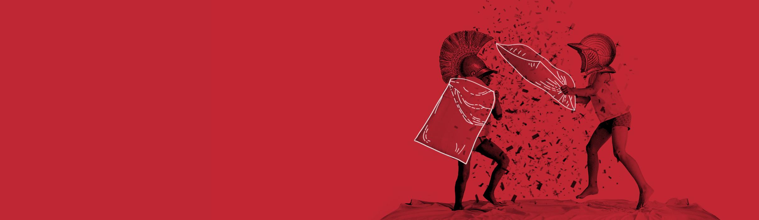 Grafik Gladiator Kissenschlacht