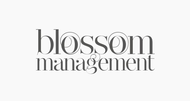 ALEKS UND SHANTU Kundenlogo blossom-managment grau-