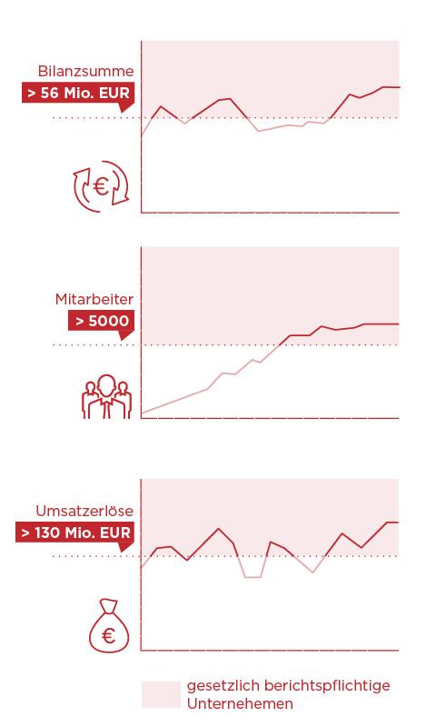 Infografik für die Veröffentlichung verpflichtet Geschäftsbericht