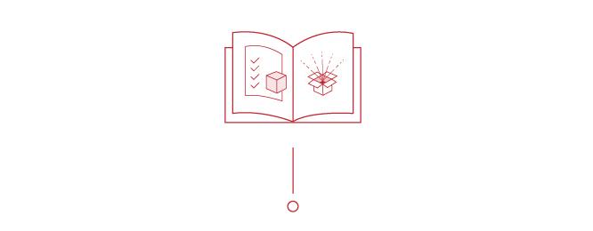 Broschüre Produkt Illustration Icon augeschlagene Broschüre