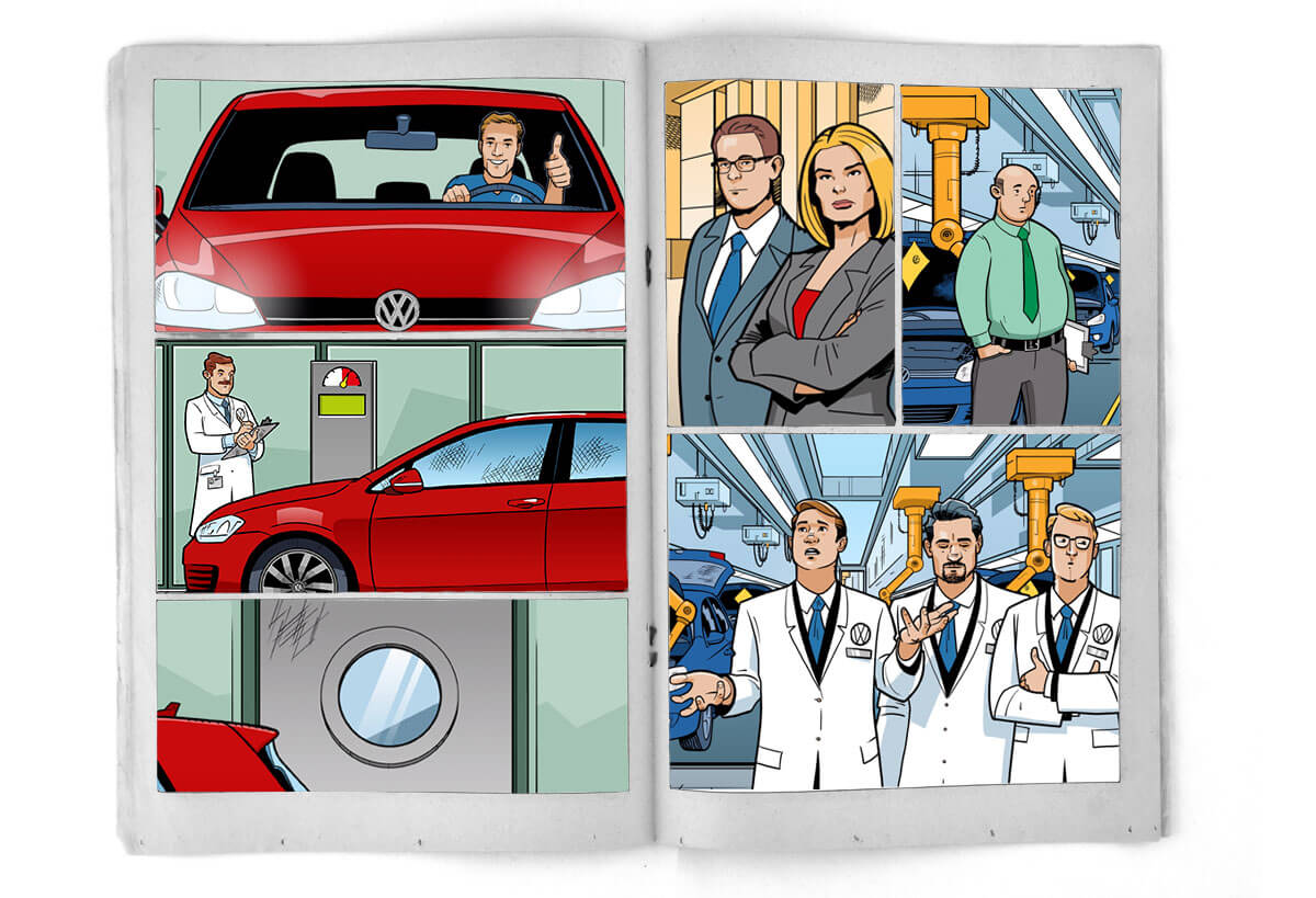 Abbildung-stil-comic Illustration