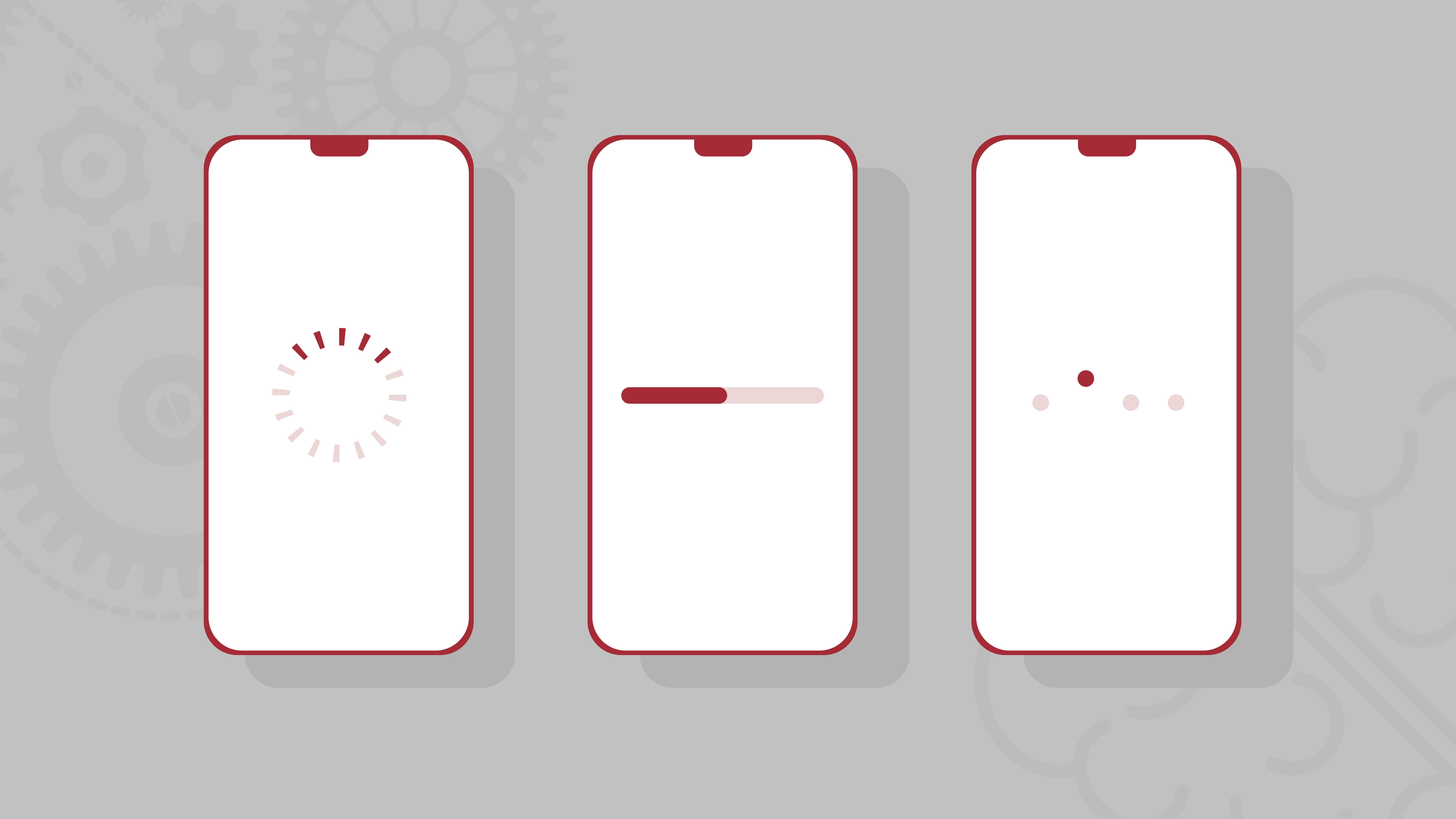 Ladeanimation Infografik mit mobildtelefonen