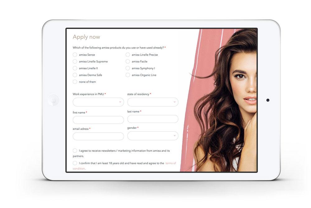 Amiea Ambassador Tablet Apply now Application Bewerbung