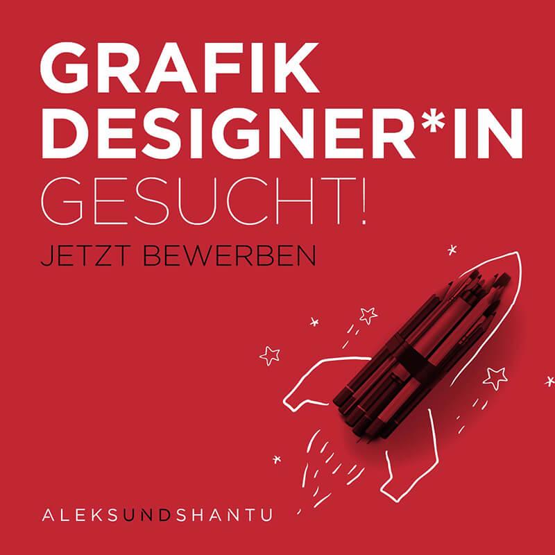 Grafik Stellenanzeige Grafik Designer*in gesucht! Jetzt bewerben