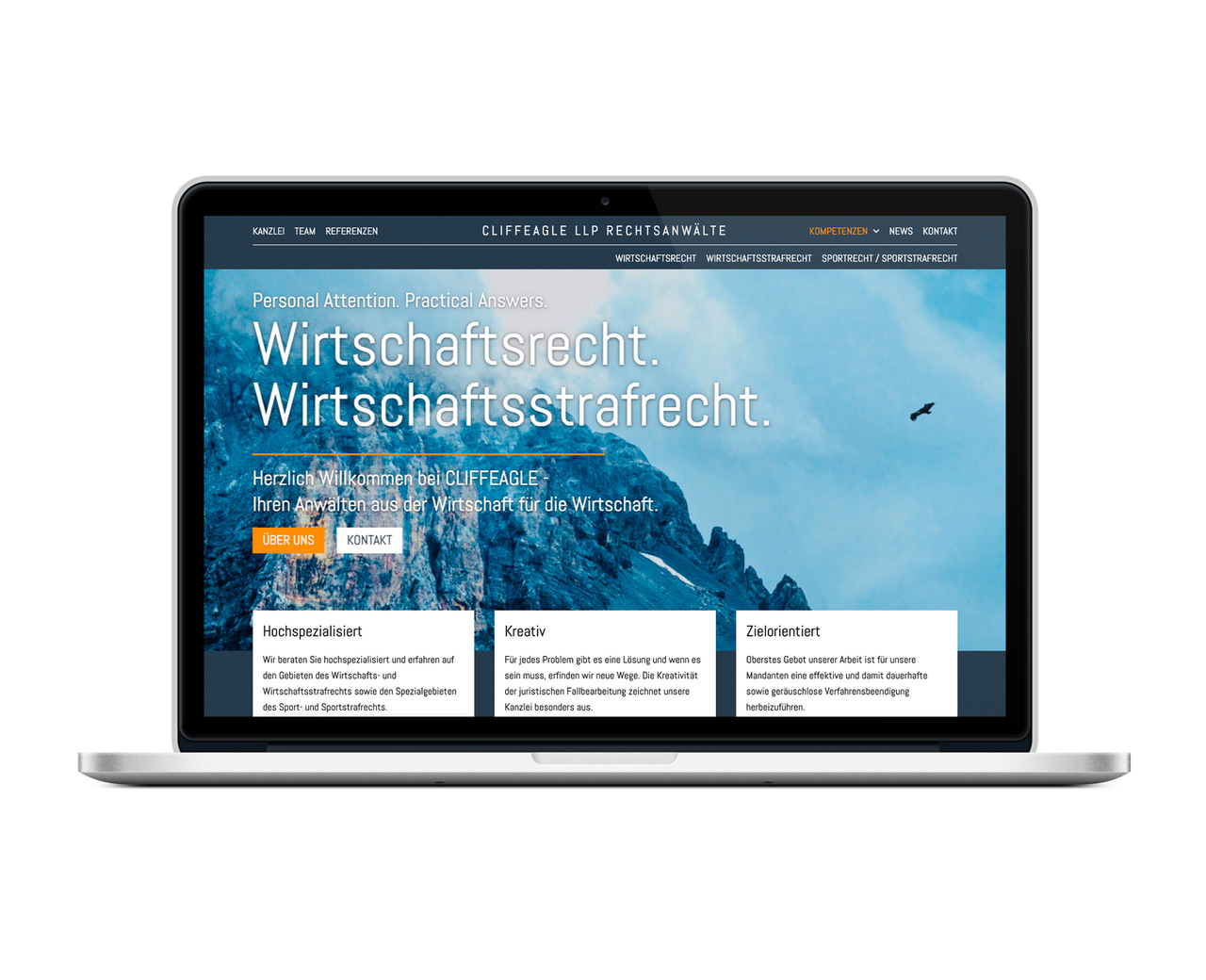 Cliffeagle Above the Fold macbook ansicht