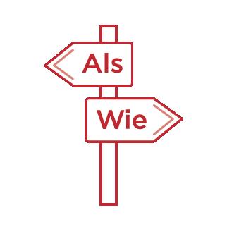 Icon Straßenschild mit zwei Pfeilen