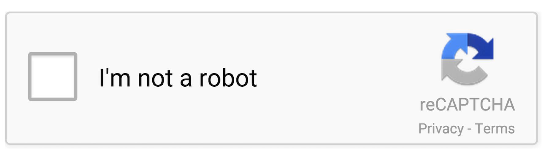 Ich bin kein Robotor Beispiel Webentwicklung
