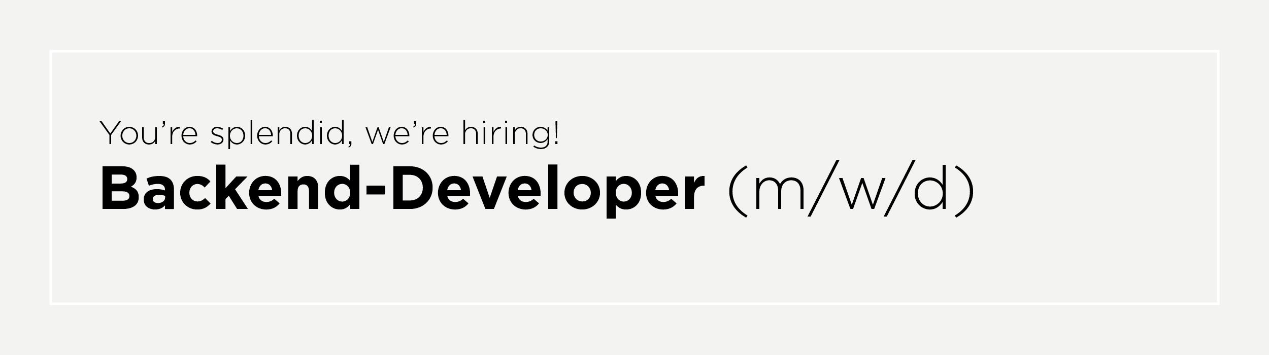 backend-developer (m/w/d)