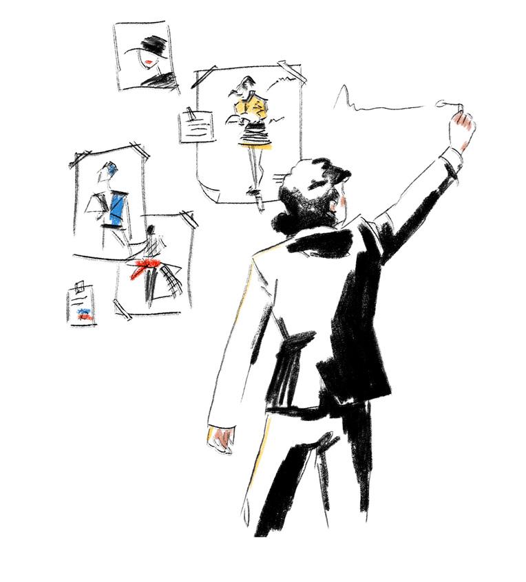 antonio-lopez-modeillustrator-workshops-mode-illustration-Zettel-schreiben