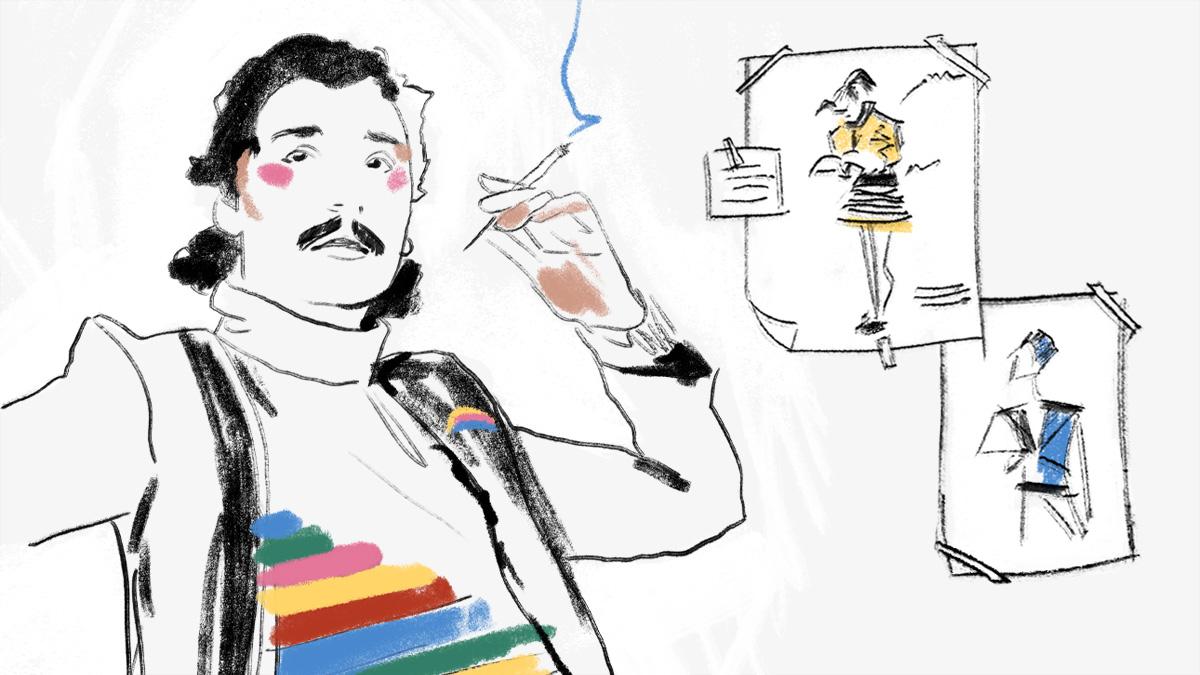 Antonio Lopez und Skizzen