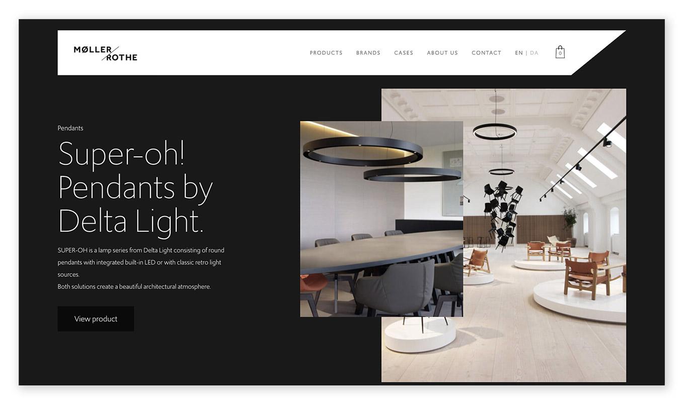webentwicklung technische und visuelle webdesign trends - dark mode