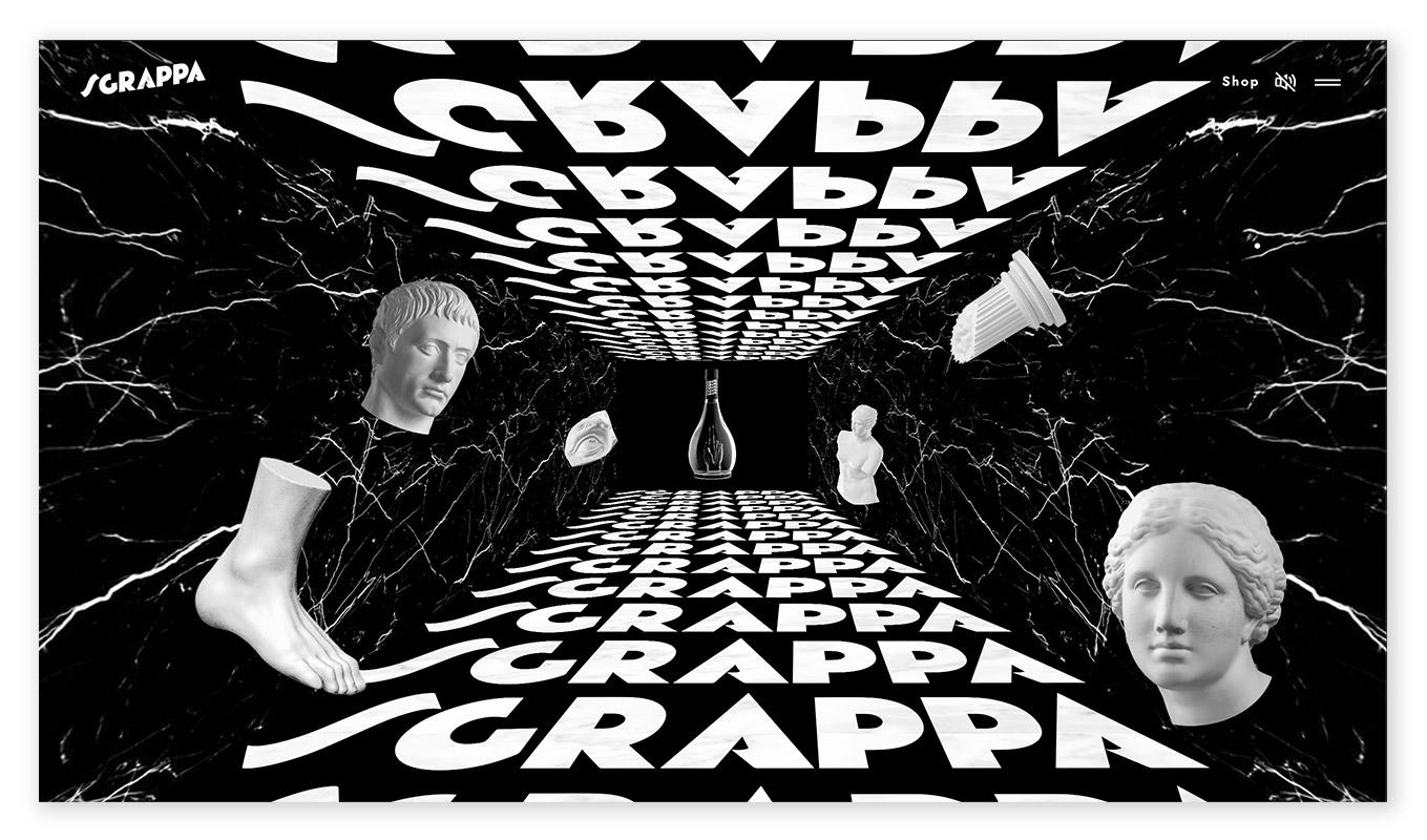 webentwicklung technische und visuelle webdesign trends - dystopisches Design