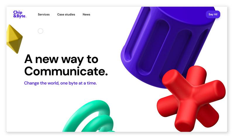 webentwicklung technische und visuelle webdesign trends - 3D-Elemente