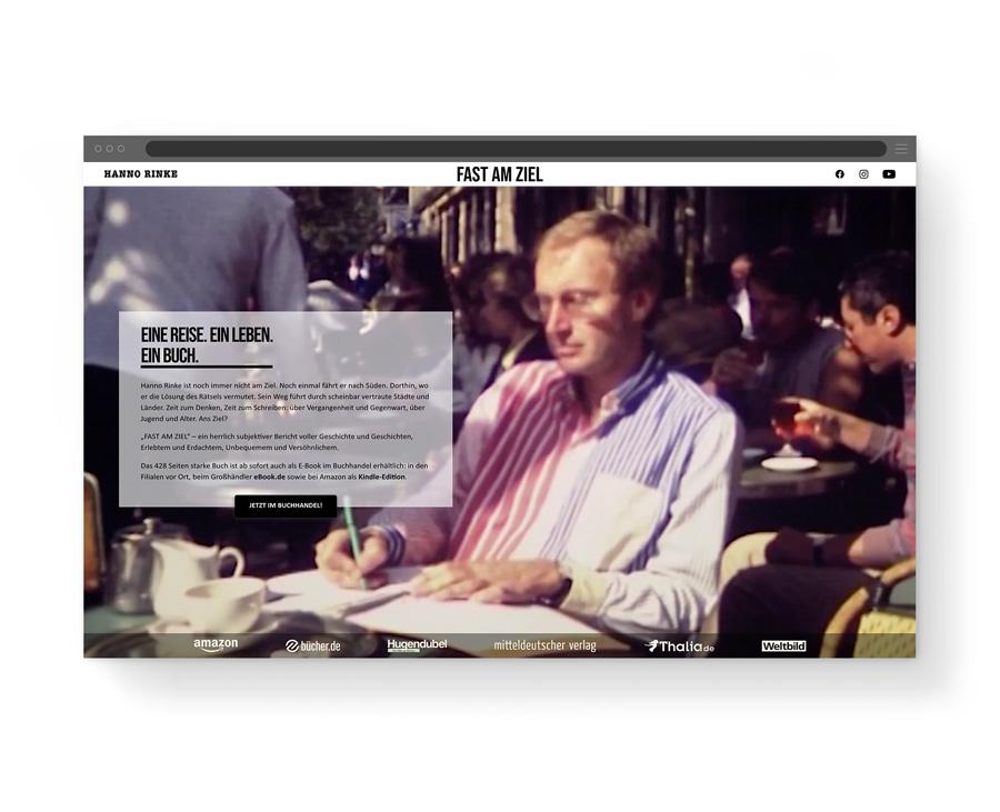 Desktopansicht der Fast am Ziel Landingpage unseres Kunden Hanno Rinke