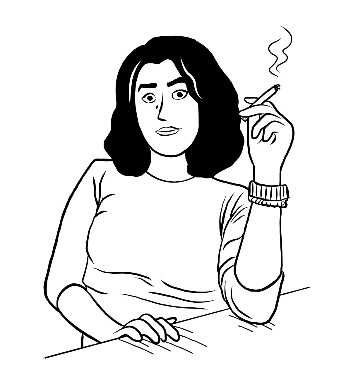 Beitragsbild Portrait der Illustratorin Marjane Satrapi