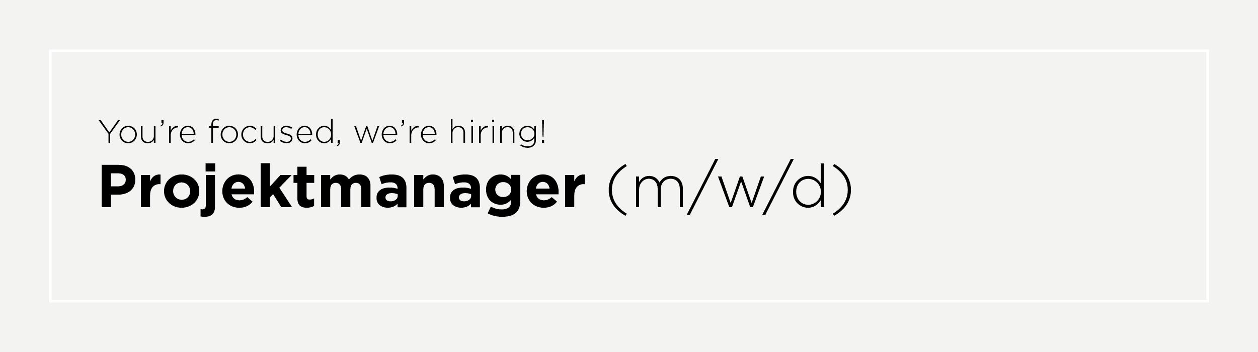 Projektmanager (m/w/d)